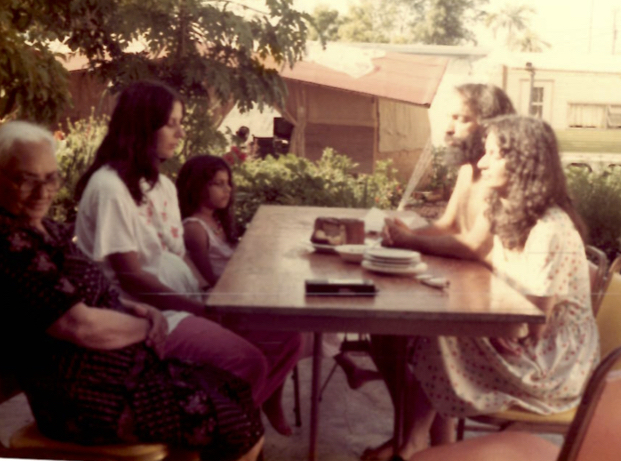 Shula is pregnant with Noam in this picture. Naomi is sitting at the end of the table. This photo was taken at Naomi's in the early 1980s.