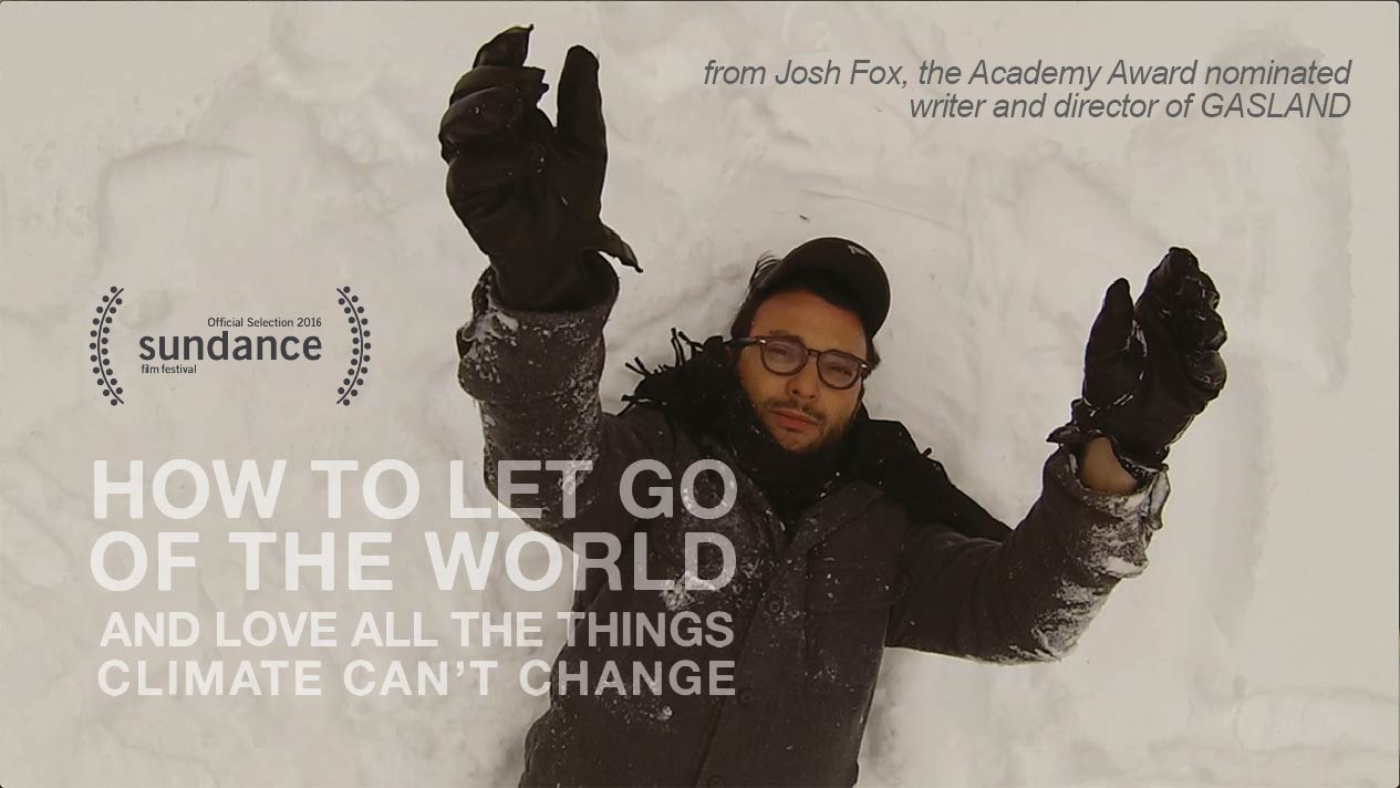 "A promotional poster for the film (Courtesy of ""How to Let Go of the World"")"