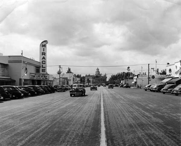 Coral Way in 1949, which later became known as Miracle Mile. (Credit: HistoryMiami)