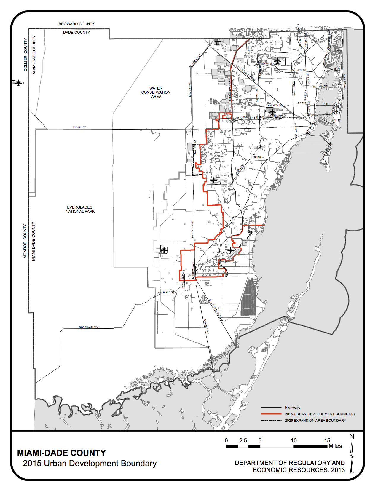 Miami-Dade Urban Development Boundary.