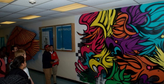 Observing the art (Courtesy of City Year)