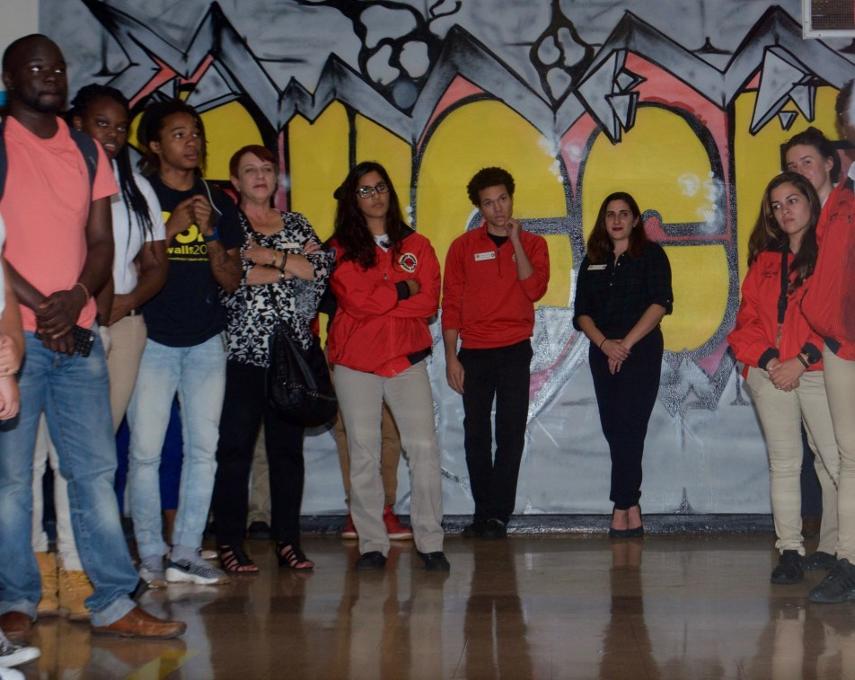 Brit Garcia with fellow City Year members and artists. (Courtesy of City Year)
