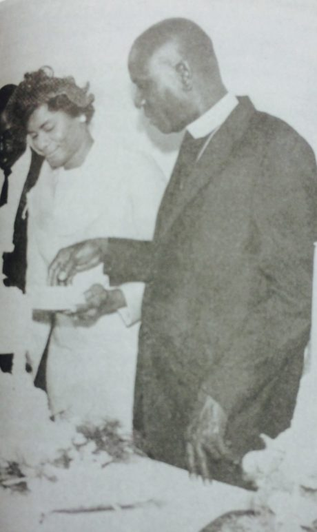 Thelma and her husband Theodore at their wedding. (Courtesy of Forbearance : Thelma Vernell Anderson Gibson : the life story of a Coconut Grove native)