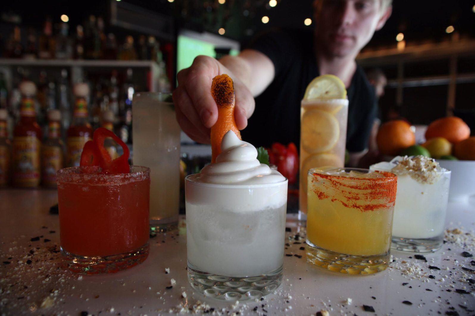 Holtzman's twist on a Tommy's Margarita, a SoCal Special. (Courtesy of Leo Holtzman)