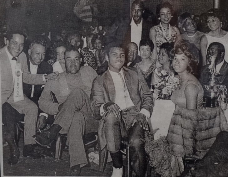 Muhammad Ali partying at the Hampton House (Courtesy of the Hampton House)