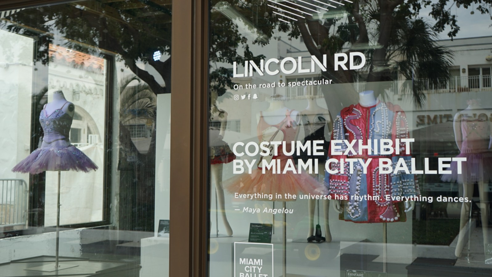 The exhibit on Lincoln Road. (Credit: Roshan Nebhrajani/The New Tropic)
