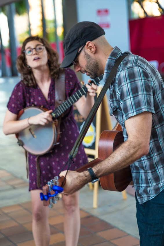 Street performers at Buskerfest Miami in 2015.