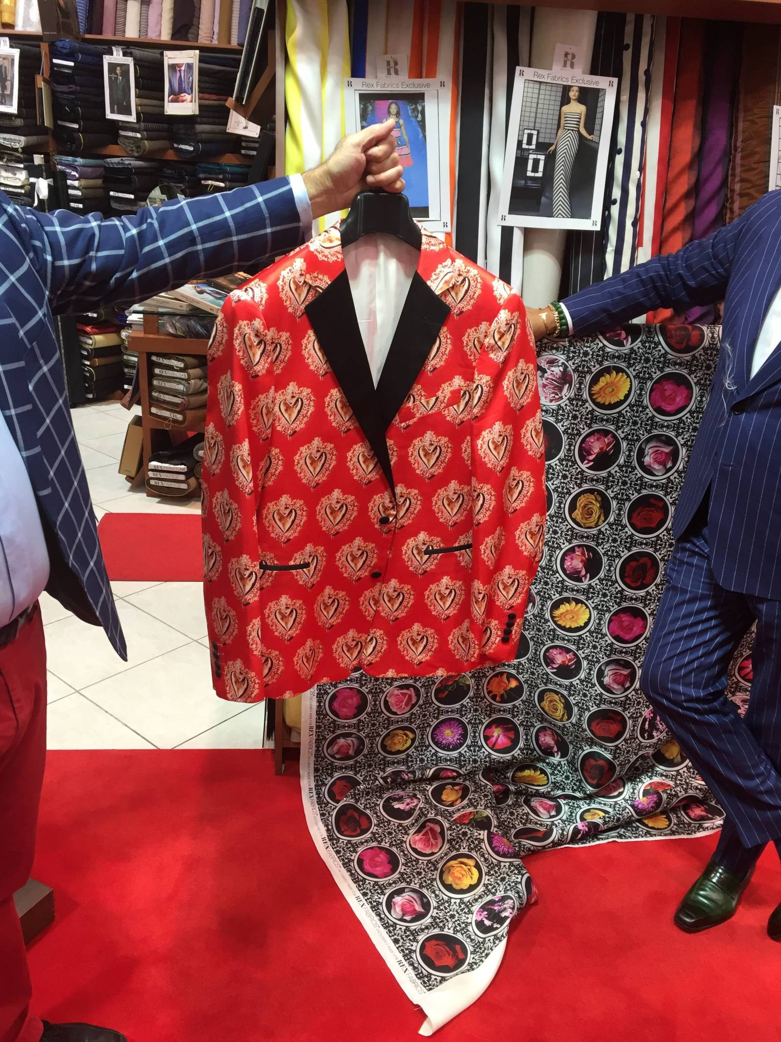 The suit Sager wore on Valentine's Day 2016 during the All Star Game (Credit: Rob Wile/The New Tropic)