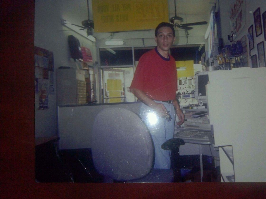 Jasmin's uncle, George, in the Liberty City grocery store he and Tony owned