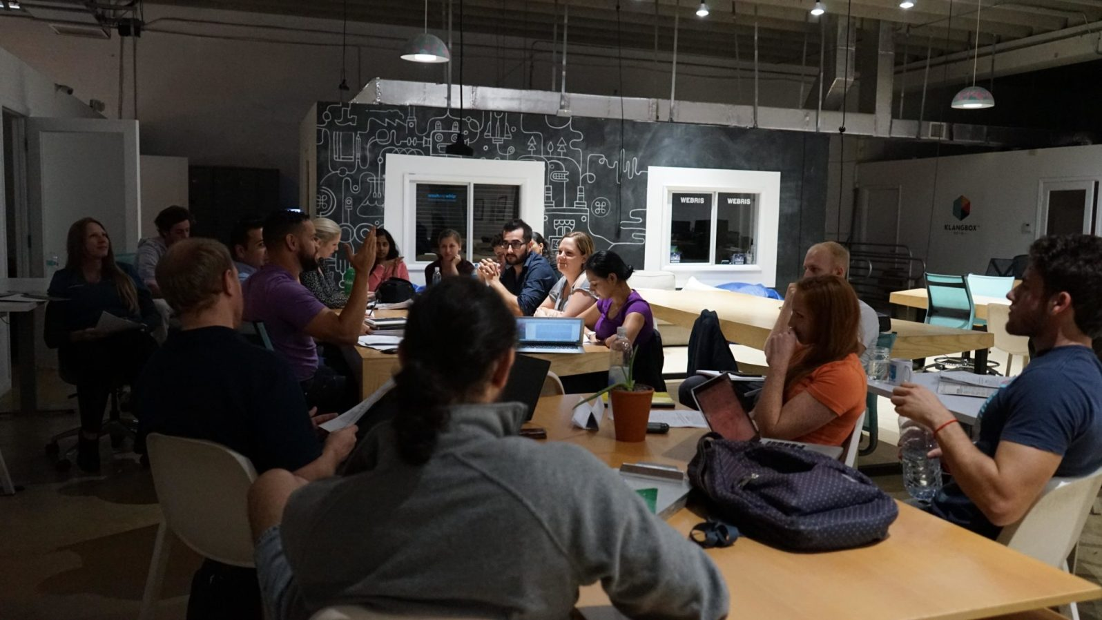 The whole group meets at The Lab every Monday from 7 to 9 p.m. (Credit: Roshan Nebhrajani/The New Tropic)