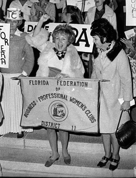 An equal rights demonstration in Miami in 1973 (Courtesy Miami News Collection, HistoryMiami)