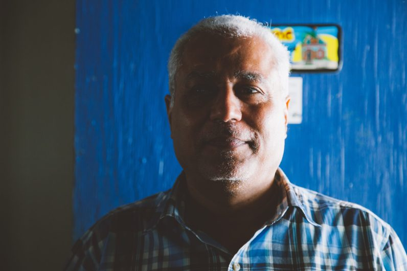 Vinod Daswani, local business owner / I was born in India and left when I was nine years old. I moved to east Africa, then west Africa, then England for my high school education, and then the United States. Then I ended up in Curaçao at the age of 24 because I was following my father's business. I met a local Dutch/Surinam woman, who became my wife, and we opened a retail business. It didn't pan out, so I went with my passion, which is electronics. Anything that plugs in, I understand. I started building home theaters, conference rooms, and renting equipment for seminars, and soon enough I became the premier company that does audio-visual production on the island. Having traveled to a lot of places, what keeps me coming back to Curaçao is the multicultural environment and the multilingual practices. You have people from different countries living here in perfect harmony.