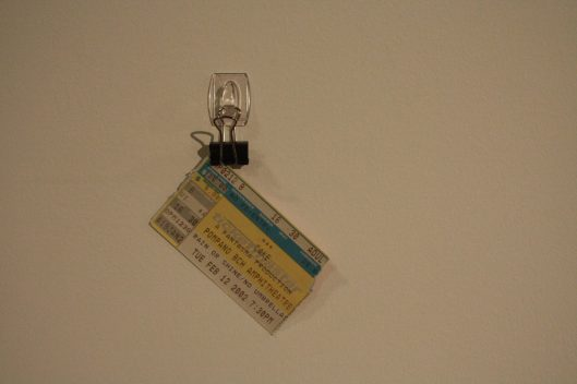 A concert ticket, one of the artifacts from a lost relationship (Courtesy of Devlin Celis / Crea7ive)
