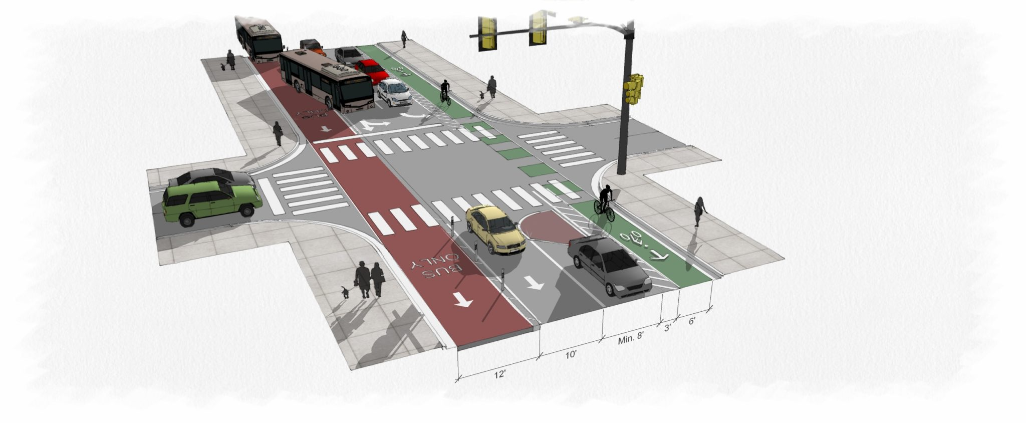 Starting mid-July, Downtown Miami's SE/SW 1st Street corridor will support new bus and bike lanes.