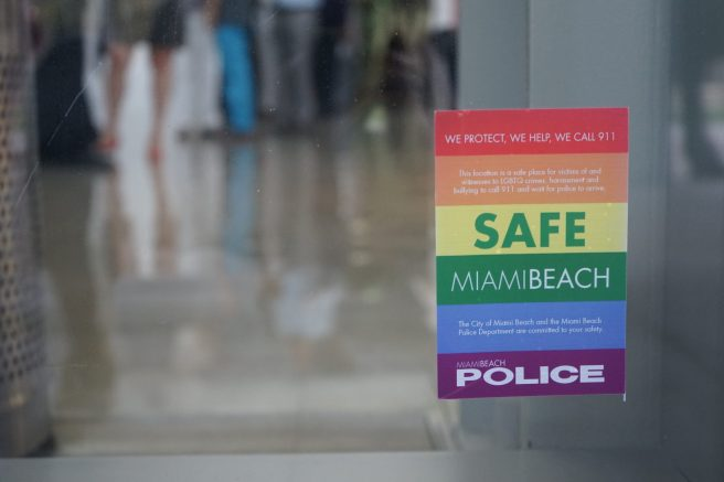 Safe Place Initative Sticker at the New World Center