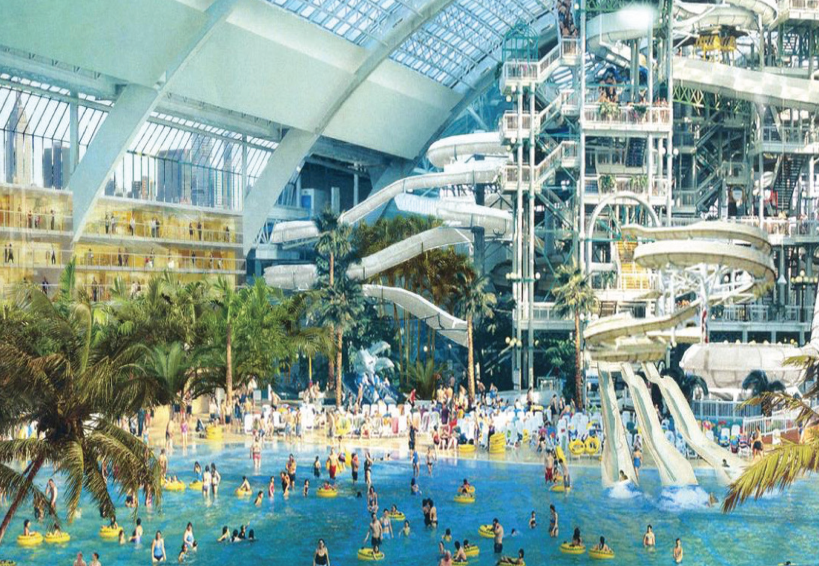 A rendering of the water park planned for American Dream Miami.