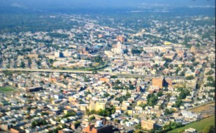 Aerial view of the City of Elizabeth