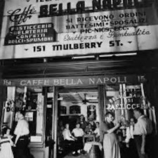 151 Mulberry Street... the infamous Bella Napoli Cafe