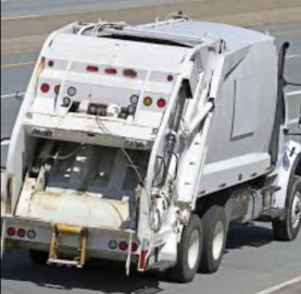 a private garbage truck-compactor