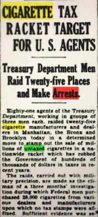 Treasury agents crack down!