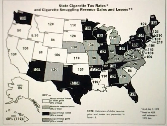 Map of state to state tax disparity