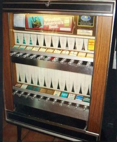 Old fashioned cigarette machine