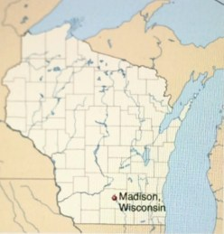 Madison - located in southern Wisconsin