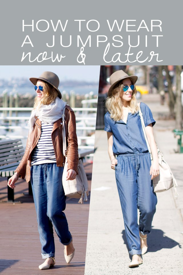 how to wear a jumpsuit now later
