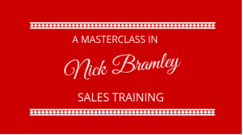 #145 Nick Bramley – Sales Training