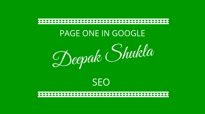 #165 Deepak Shukla – SEO