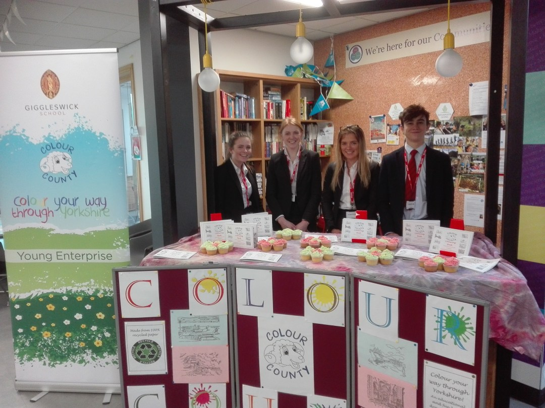 Colouring Books from Colour County, Young enterprise, Giggleswick School