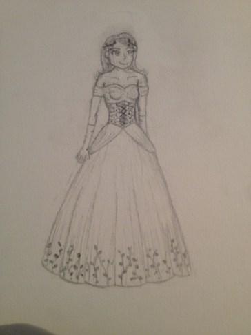 steampunk-themed ballgown