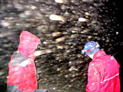Storm at base camp, Quimsa Cruz, Bolivia