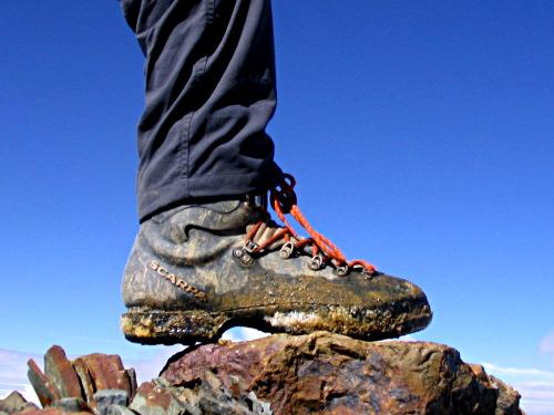 The first British foot on Laram Kk'ota Chico, Bolivia