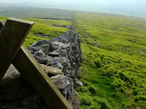 Dry stone wall in Snowdonia