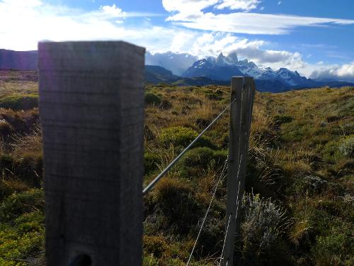 Fence to Fitzroy Mountains