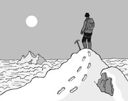 How To Climb An Unclimbed Mountain (Illustration: www.jimshannon.net)