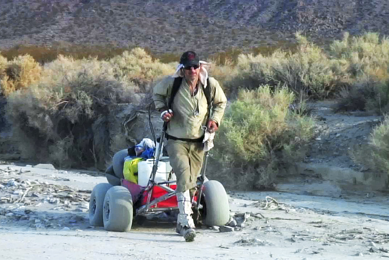 Todd Carmichael's desert cart: The Pig