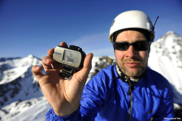 The summit of a previously unclimbed Siberian peak (Photo: David Tett)