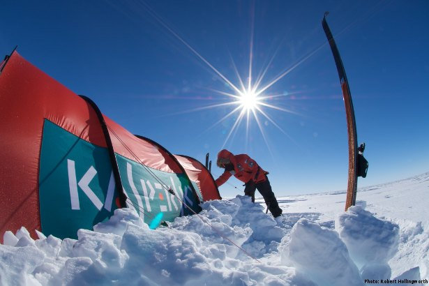 Kaspersky Tent in Antarctica (Photo: Robert Hollingworth)