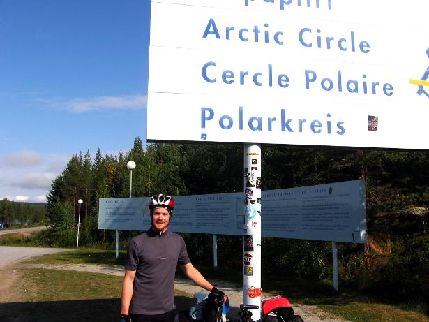 Cycling out of the Arctic Circle