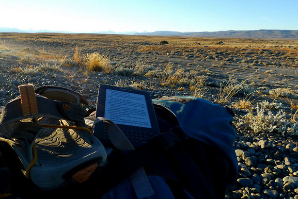 Amazon Kindle in Patagonia