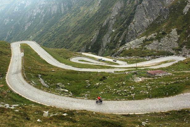 Descending the Gotthard Pass