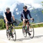 Mikey Bartley cycling up Alp d'Huez