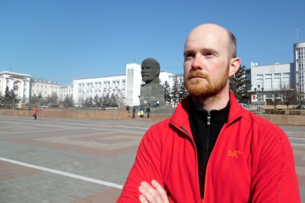 The Great Leader (and a Russian guy in the background)