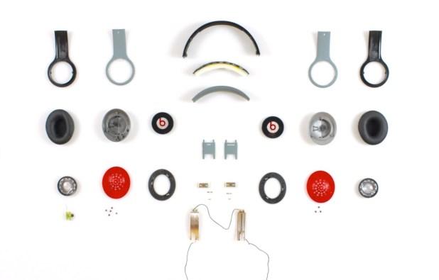 The various pats of a Beats Headphone