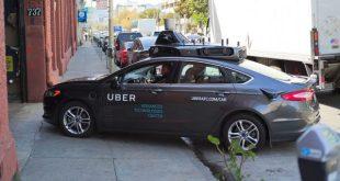 Uber self driving car in grey