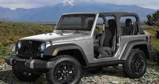 Jeep Wrangler in grey