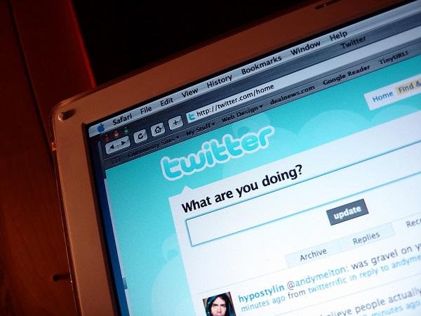 Twitter website on desktop computer