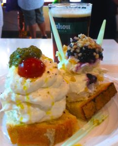 The most beautiful and decadently creamy buratta at the San Miguel Market.